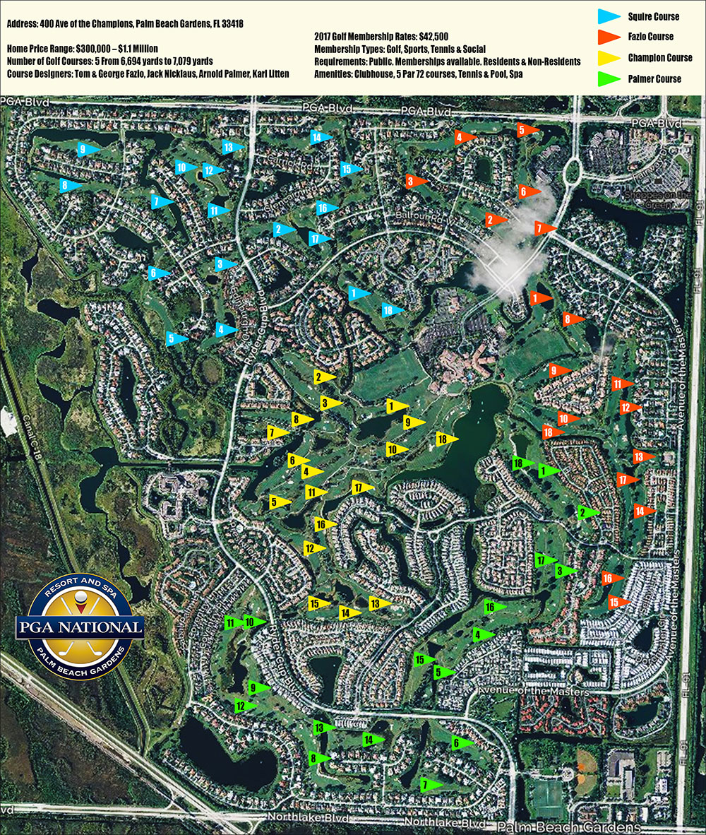 PGA National Map